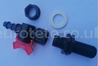 1/2 drain valve for drum or water tank