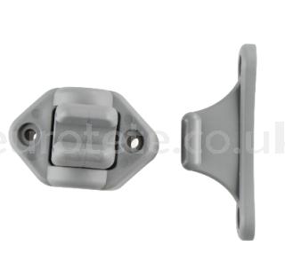 Retenedor giratorio gris para puerta exterior autocaravana 1