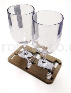 Soporte colgar la copa vino marron 23 x 11 cm cocina asutocaravana 3