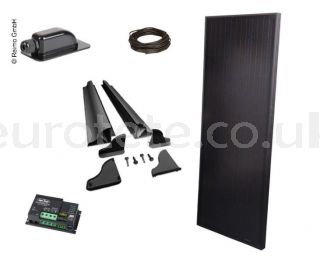 Solar panel 120 watts 145 x 55 Full Black high performance with digital Duo controller for motorhome