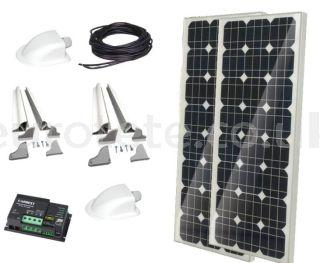 2 solar panels 100 watts 120 x 55 monocrystalline with digital Duo controller for motorhome