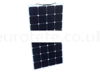 Solar panel 135 watts 148 x 57 monocrystalline and flexible for motorhome or camper