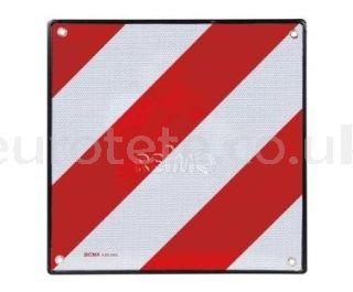 Panel señalización carga para portabicicletas autocaravanas