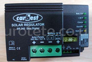 Regulador solar Carbest Voltronic SR243 Duo 14 amperios.