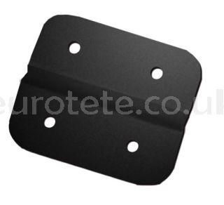 Bisagra negra para arcones y muebles de furgoneta camper o autocaravana