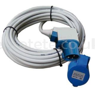 Cable IP44 conector en ángulo.  10 metros . 3 x 2,5