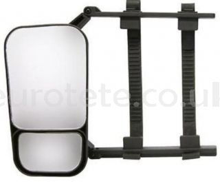 Rearview mirror 22 x 12 cm adjustable auxiliary for car with caravan or trailer