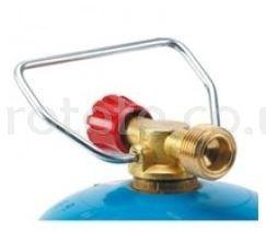 Adjustment for bottle blue handle gas valve
