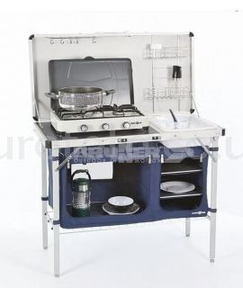 Kitchen camping with folding top