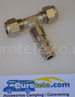 10 mm - 8 mm - 10 mm T empalme racor instalacion gas autocaravana 1