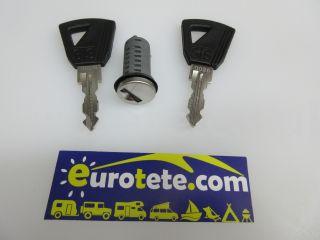 Europe cylinder series and 2 keys for motorhome door