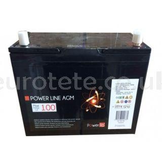 POWER LINE 12V 100AH GEL battery