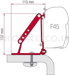 Estribos Fiamma  98655-316 Kit roof Adapter toldo F45 furgoneta 1