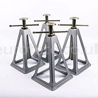 Caballetes aluminio con 4 unidades para caravanas