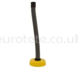 Tapon DIN 96 con tubo espiral flexible para garrafa universal para furgoneta camper 1