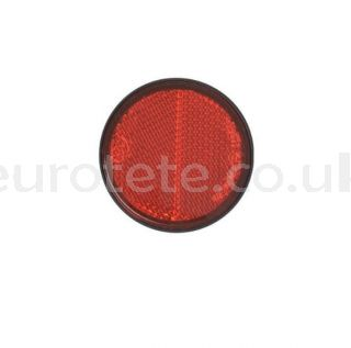 Reflector red sticker Ø 58 sticker for trailer or others