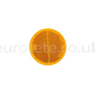 Orange reflector adhesive Ø 56 sticker for caravan, trailer or others