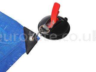 Ventosa fijacion hasta 10 kilos con anillo y dos ganchos para toldo o aislante termico caravaning 1