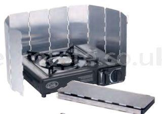 Separador viento para el hornillo de gas cocina en camping 1
