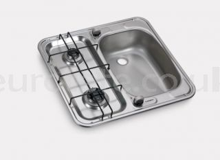 Dometic HS 2460 R 2-burner built-in countertop with sink on the right