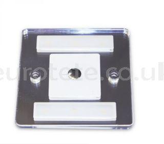 Plafon led 10 x 8 cm touch cuadrado con 2 posiciones a 12 voltios