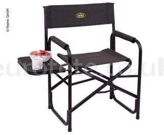 Black director folding chair with Camp4 side table camping 1