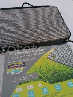 Carpet advance 300 x 500 mm premium gray 480 g / m2 camping