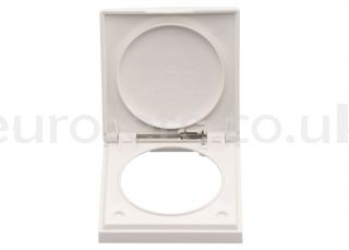 Berker white frame with cover electricity 1