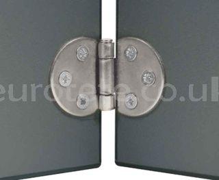 Zinc-plated hinge for table or swing door camper van 1