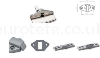 Close with 4 cm chrome cabinet pull motorhome Mc Louis 1