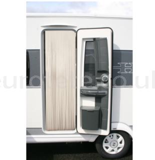 Curtain 60 x 200 cream colored leather - beige motorhome caravan 1