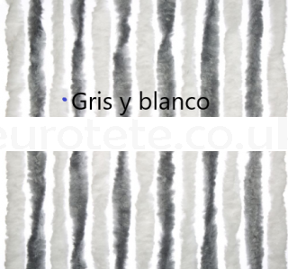 Light gray and white curtain 56 x 205 for motorhome entrance door 1
