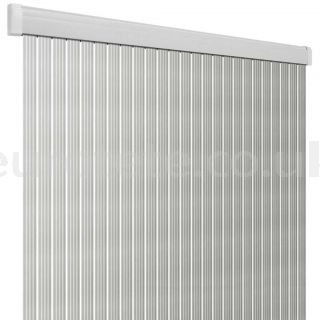 Curtain 60 x 190 PVC Arisol Band Lux silver and white 1
