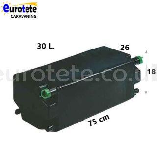 Water tank 30 liters black 75 x 26 x 18 camper 1