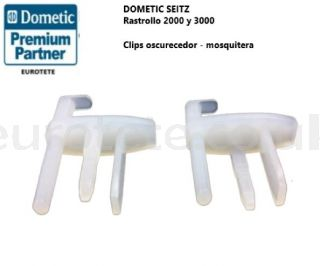 Clips mosquito net blind Dometic, Rastrollo 2000 and 3000 window motorhome 1