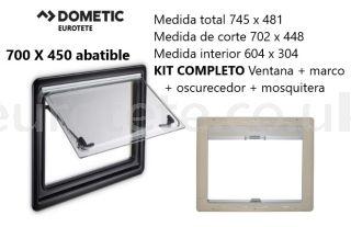 Window 700 x 450 Dometic S4 folding Kit frame + blackout + mosquito net 1