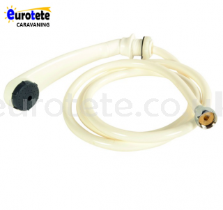 Extendable white shower telephone with water hose caravan camper 1