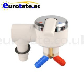 Chrome and white single-lever shower mixer 1