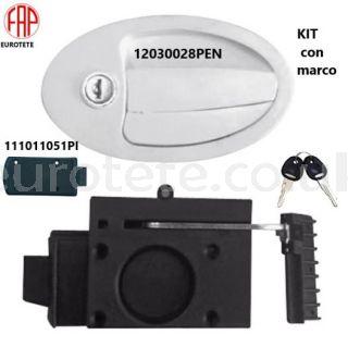 Fap firenze 12030028PEN white + 111011051PI + frame + safety hook + keys motorhome 1