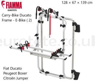 Fiamma-Carry-Bike-Ducato-Frame-2-E-bike-Citroën-Jumper- Fiat- Ducato-Peugeot-Boxer-aluminum-bike-rack-1