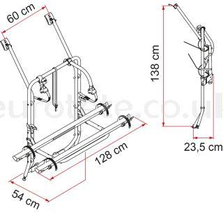 Carry-Bike VW T4 bicycle gate Fiamma 02094-18A camper 1