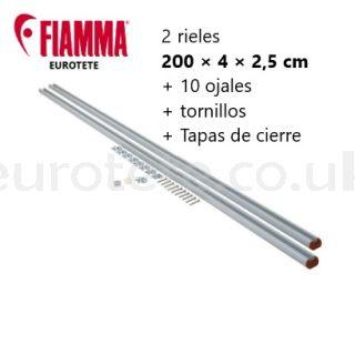 Fiamma 2 bars of 2 meters + eyelets by Garage-Bars motorhome 1