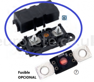 High load fuse holder with cover camper motorhome 1