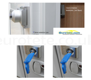 IMC kit of 3 chrome-plated front door lock + 2 garage door lock 1