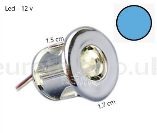 Mini blue led Ø 15 mm to embed to 12 volts ideal camper