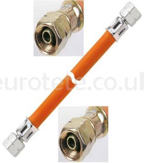 Lyre gas hose 80 cm 1/4 left thread motorhome 1