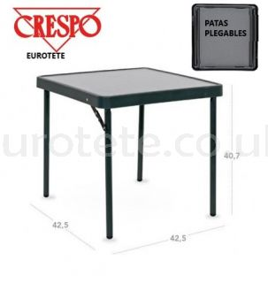 Crespo AP-280 auxiliary table 42 x 42 x 40 anthracite black camping 1
