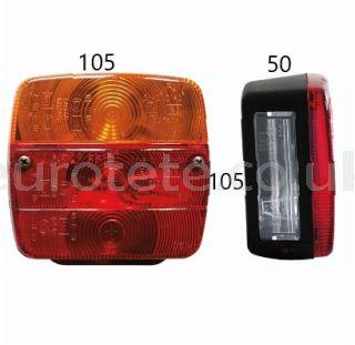 Square-rear-light-red-orange-AJBA-brake-light-turn-signal-rear-light-number-plate-light