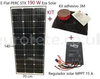 Placa-solar-190-watios-alto-rendimiento-regulador-MPPT-15-amperios-monocristalina-autocaravana-1