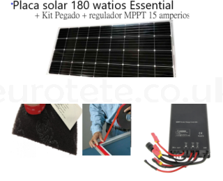 Solar panel 180 watts Essential + Kit glued + regulator MPPT 1